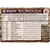 "Bear Paws Meat Smoking Guide Magnet – Quick Reference Guide for Meat Temperatures & Cooking Times – Sun & Weather Resistant – 5.5"" x 8"" Magnet"