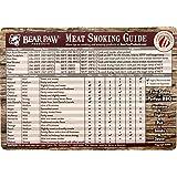 Bear Paws Wood Design Meat Smoking Guide Magnet
