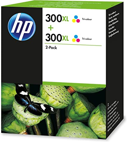 HP 300XL 2-Pack Tri-Color - Cartucho de Tinta para impresoras (Cian, Magenta, Amarillo, Inyección de Tinta): Amazon.es: Oficina y papelería