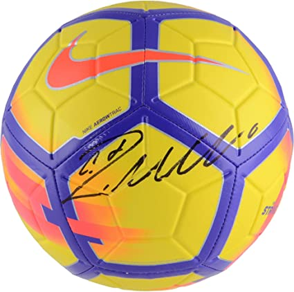 f4f86e7eed9 Cristiano Ronaldo Real Madrid Autographed Yellow and Purple Nike Strike Soccer  Ball - Fanatics Authentic Certified at Amazon s Sports Collectibles Store