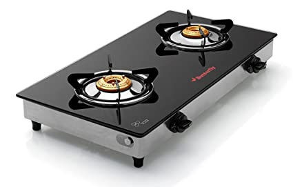 Butterfly Grand 2 Burner Glass Gas Stove