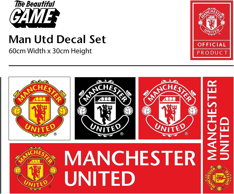 Manchester United FC Personnalisé Nom /& Crest Autocollant Mural Man Utd Decal Set