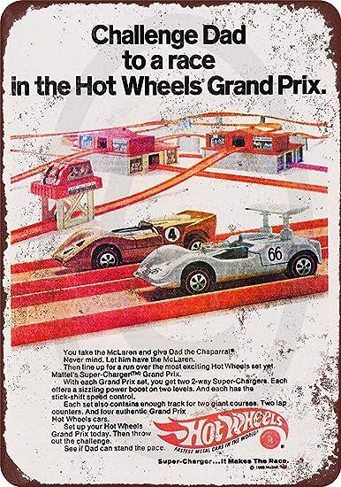 Tiukiu Racing Car Parking Only Vintage Targa in Metallo