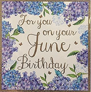 For You On June Birthday Card Square 6x6