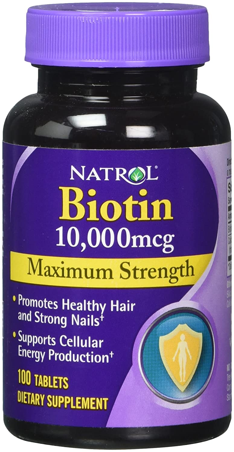 Natrol Biotin 10000 mcg Maximum Strength - 100 Tablets