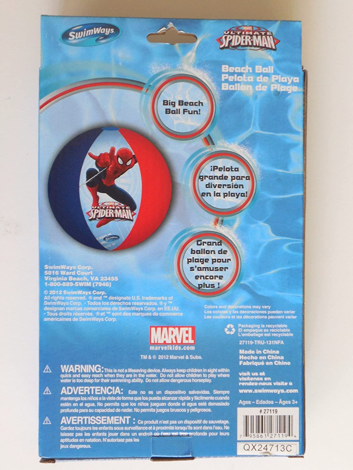 Amazon.com: The Ultimate Spider-man (3-D) Swimmies, Swim Ring and Beach Ball: Toys & Games