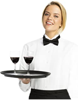 Luxe Microfiber Womens Regular Fit Pleated Button-Down Tuxedo Shirt, Wing Collar