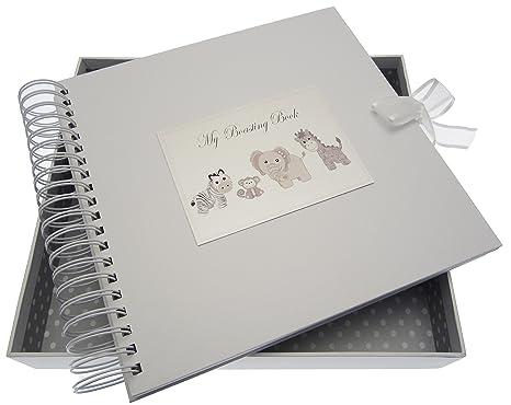 Tarjetas de algodón blanco) juguetes mi con tarjeta y libro de ...