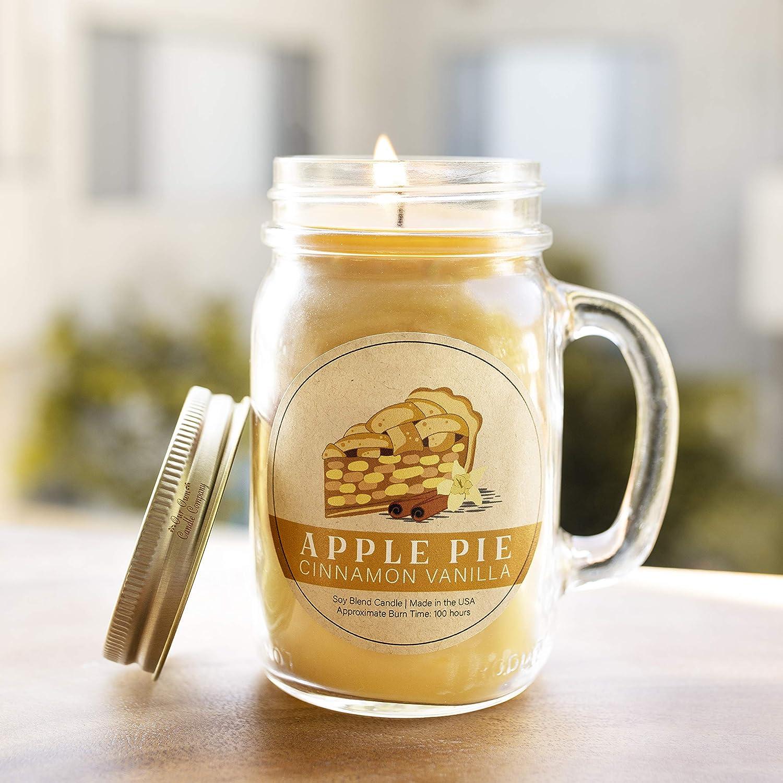 Pie pomme cannelle vanille Our Own Candle Company Grande bougie parfum/ée en cire de soja Dur/ée de combustion 100 heures 12.5cm X 7cm X 10cm