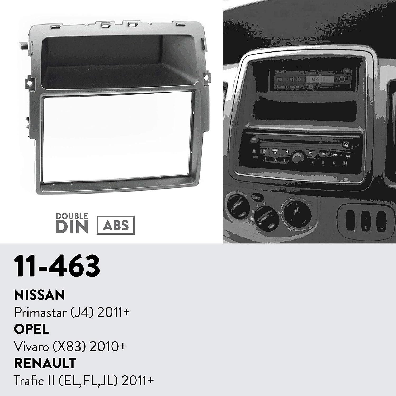 UGAR 11-463 Trim Fascia Car Radio Installation Mounting Kit for Nissan Primastar 2010+ // Renault Trafic II EL,FL,JL 2011+ // OPEL Vivaro J4 2011+ X83