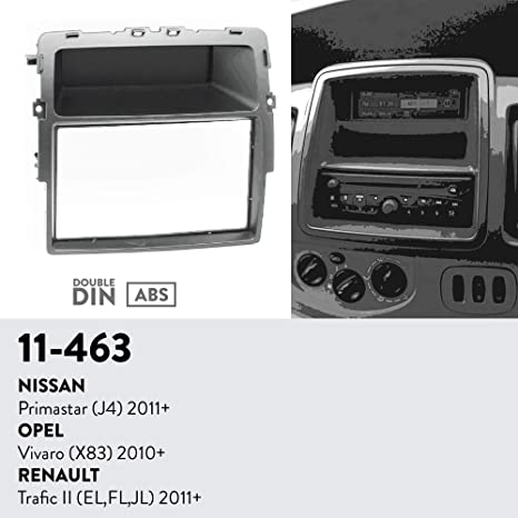 Kit de Montaje Marco para Radio Adaptador autoradio para Nissan PRIMASTAR Opel VIVARO Renault Trafic 2 DIN