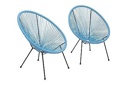 Fabulous Acapulco Chair All Weather Wicker Indoor Outdoor Round Lounge Chair Set Of 2 By Modern Century Outdoor Cm 0109 2 Piece Turquoise Spiritservingveterans Wood Chair Design Ideas Spiritservingveteransorg