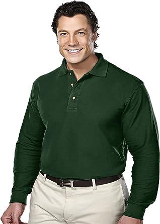 NWT  LOT OF 2 Tri-Mountain Men/'s  Pique Polo Shirts long sleeve white xl