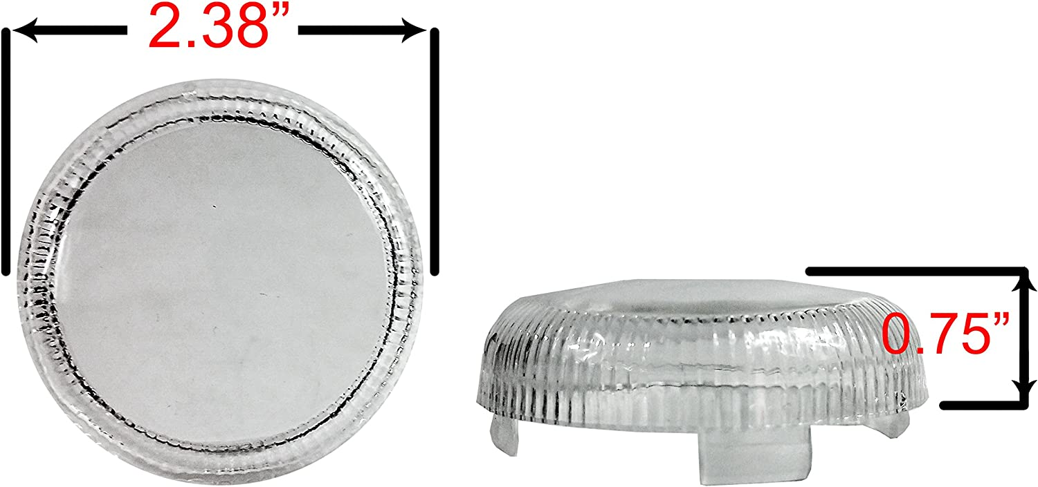 Set 4 OZ-USA Smoke Turn Signal Lens Harley Deuce-Style Snap On Street Glide FLHX Replacement lens for OEM #68973-00