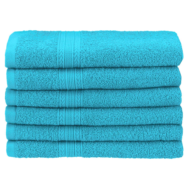 Superior Eco-Friendly 4-Piece Bath Towel Set Ring-Spun Combed Cotton Black Blue Nile Mills EF-BATH BK