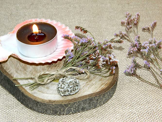 Holz Teelicht Mittelstuck Rustikale Hochzeit Kerzenhalter