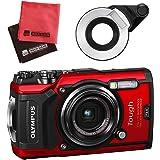 【セット】 OLYMPUS オリンパス コンパクトデジタルカメラ Tough TG-5 レッド&SD16GB&フラッシュディフューザー&クロス