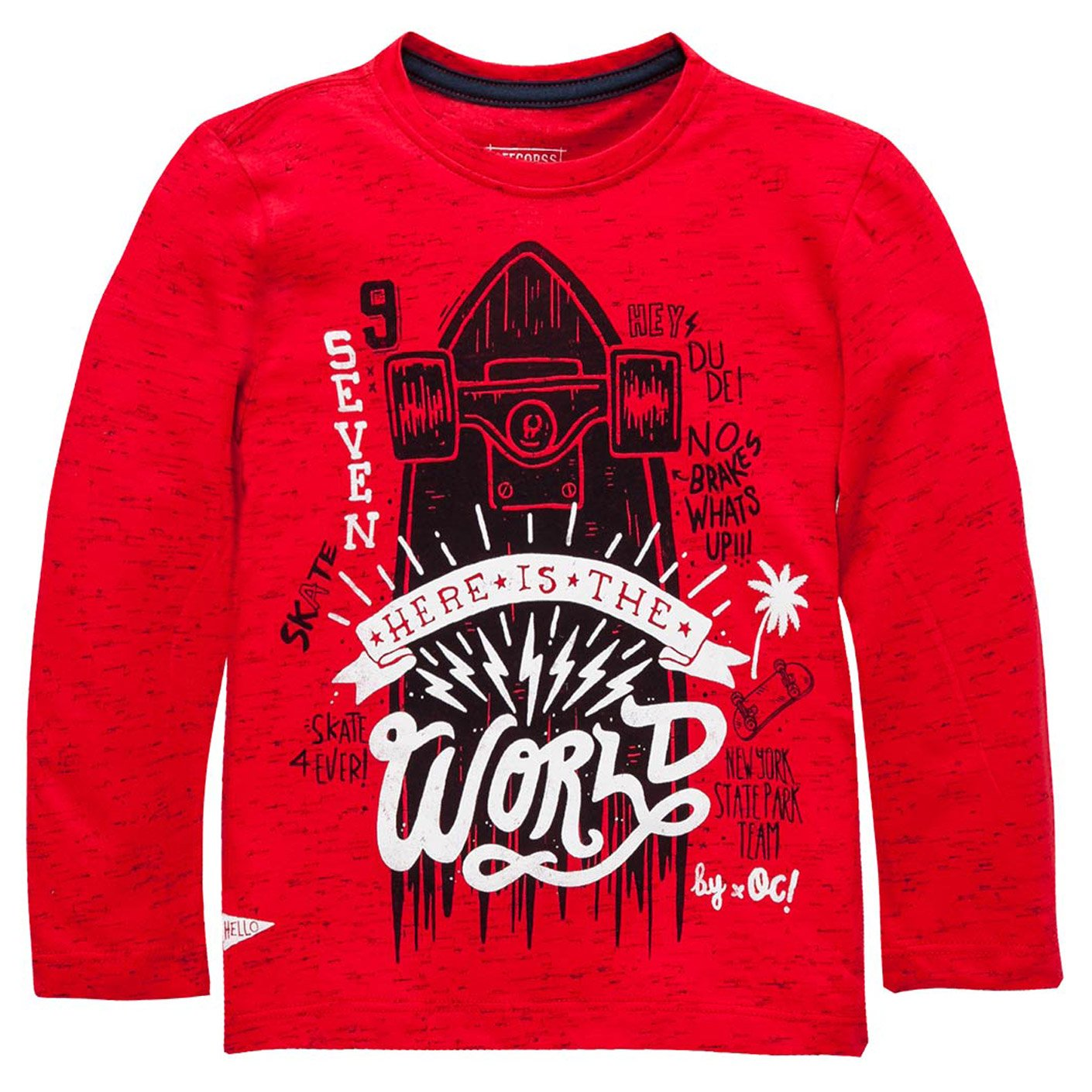 Amazon.com: OFFCORSS Boys Long Sleeve Tshirt Camiseta Para Niños Manga Larga Red 12 Months: Clothing