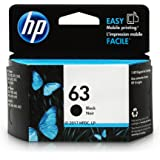 HP 63 Black Original Ink Cartridge (F6U62AN) for HP Deskjet 1112 2130 2132 3630 3632 3633 3634 3636 3637 HP ENVY 4512 4513 4520 4523 4524 HP Officejet 3830 3831 3833 4650 4652 4654 4655