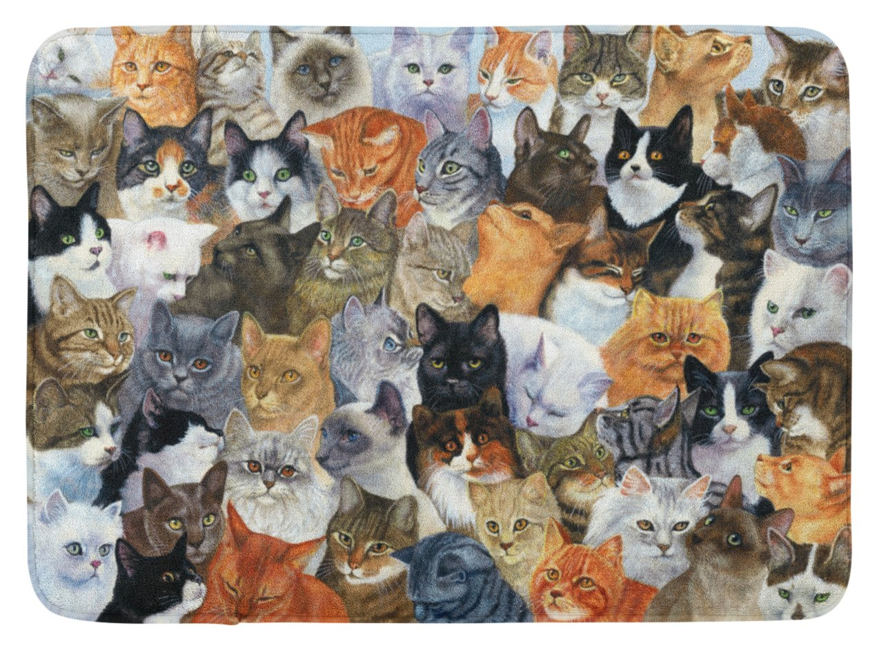 Carolines Treasures Cats Galore Floor Mat 19 x 27 Multicolor