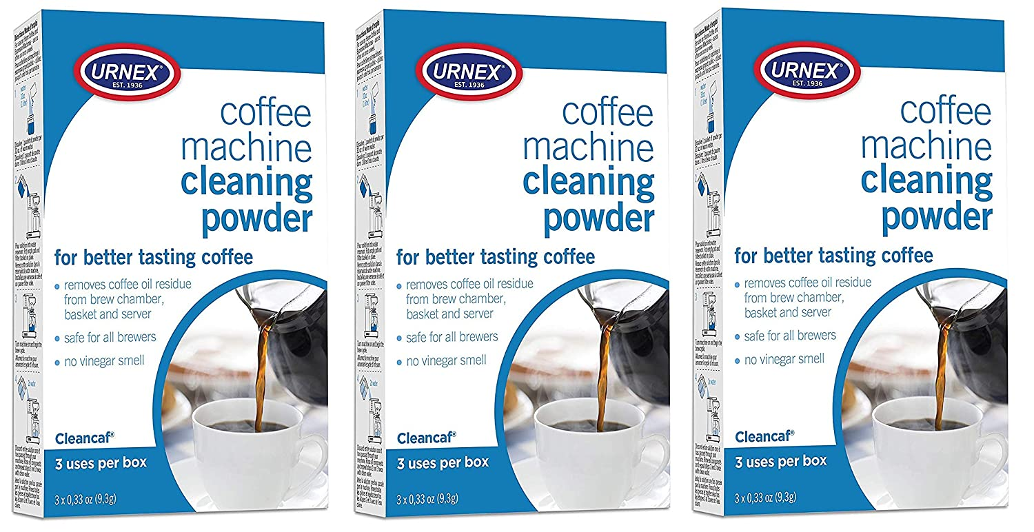 Urnex Cleancaf Coffee and Esspresso Machine Cleaning Powder - 3 Uses Per Box - Professional Espresso and Coffee Maker Cleaner 81my8SmD93L