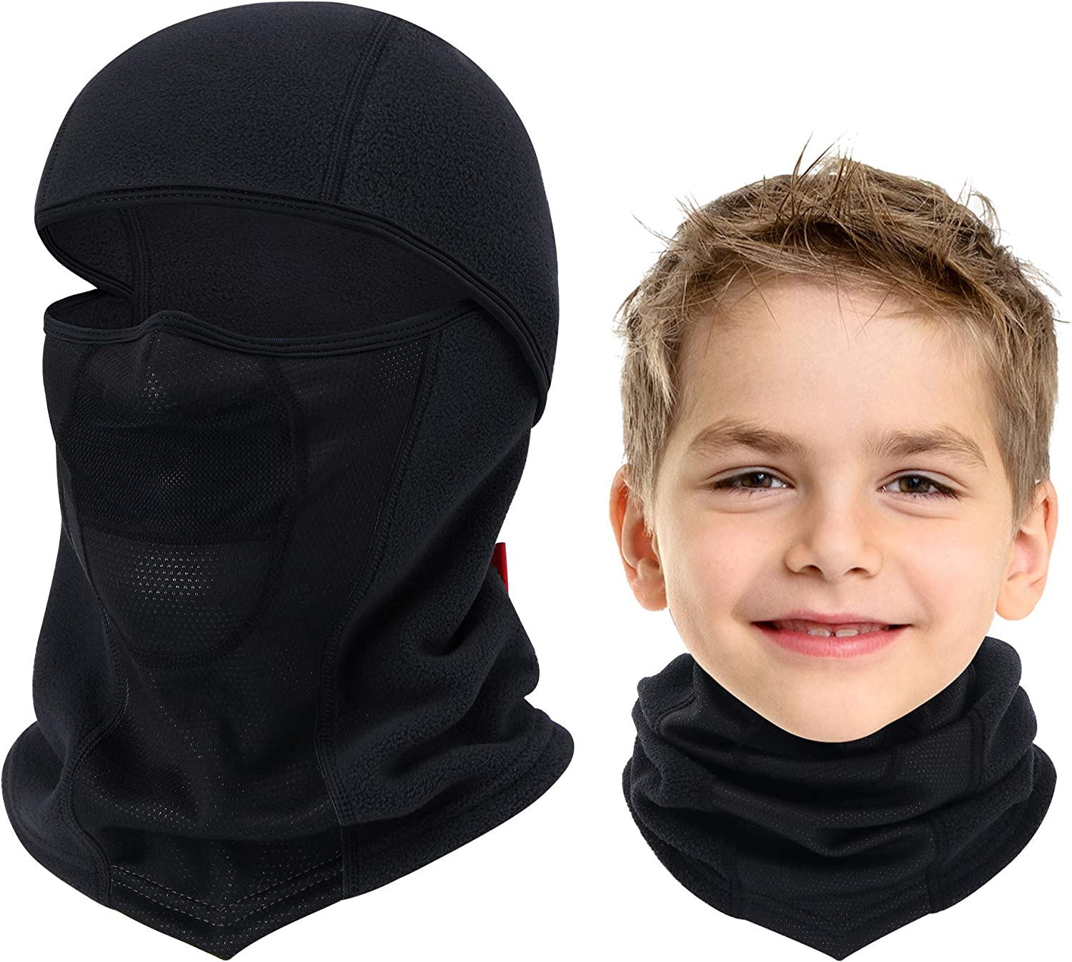 Breathable Kids Balaclava Ski Mask, Waterproof Face Mask for Boys...