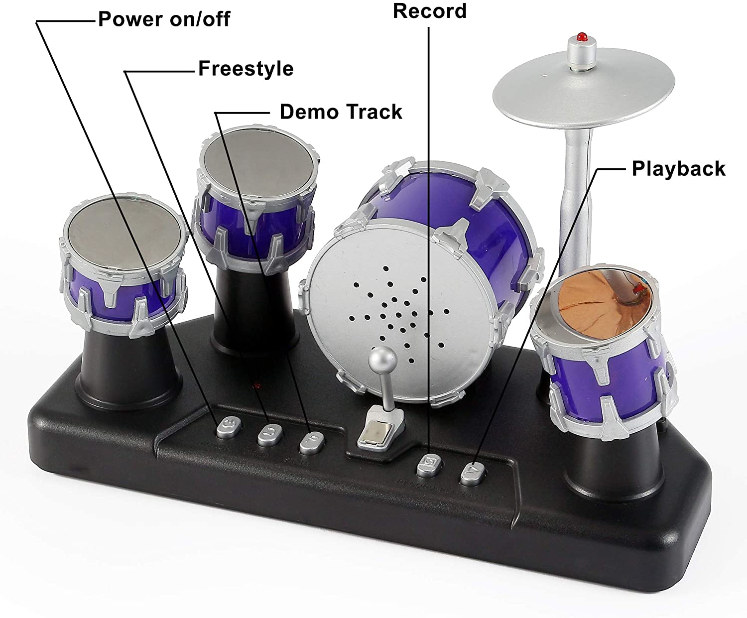 L165 Dollhouse Hand-held Musical Instrument Cymbals Percussion Miniature
