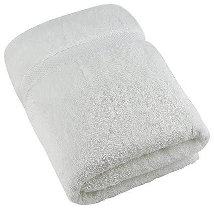 Toallas de baño de lujo de Cozy Homery - Blanco - 100% algodón orgánico natural