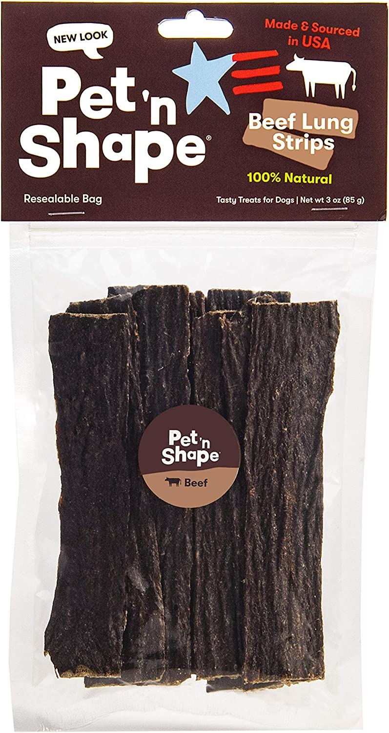 Pet 'n Shape Beef Lung Dog Treats – Made and Sourced in The USA - All Natural Healthy Treat