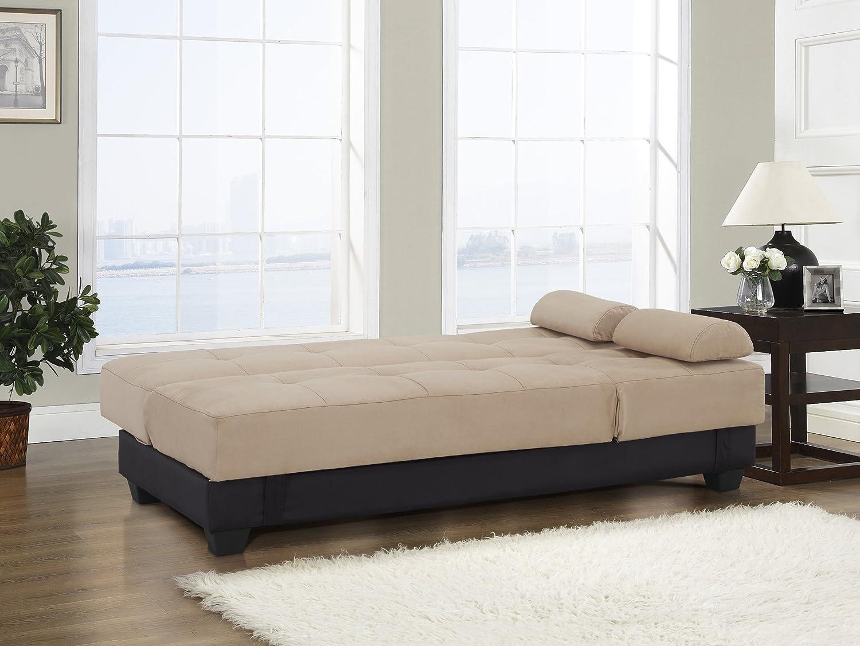 Amazon.com: Westport Home Westin Contemporary Sofa Bed, Khaki: Kitchen U0026  Dining