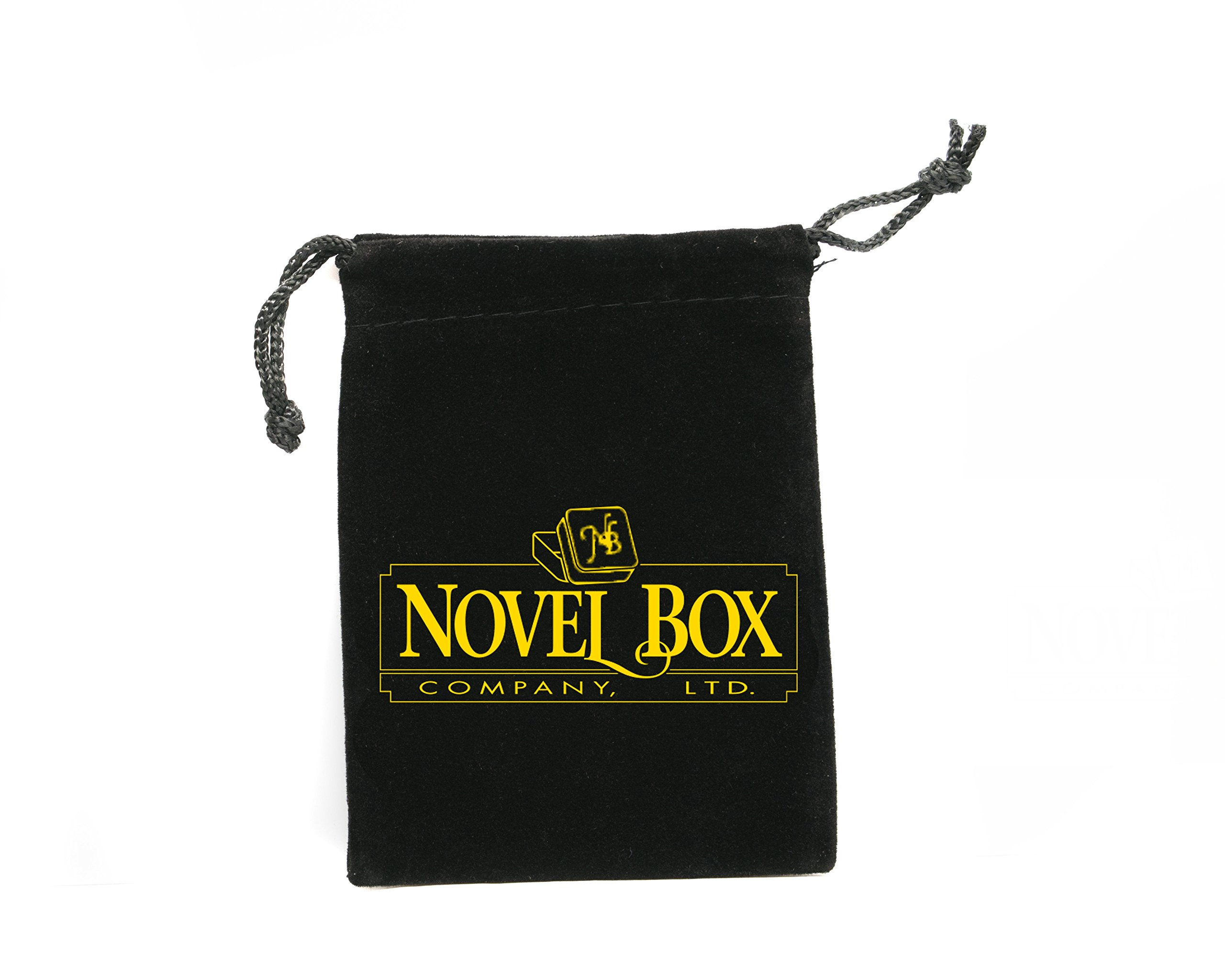 Novel Box MADE IN USA Jewelry Gift Box in White Swirl With Removable Cotton Pad 2.5X1.8X1'' (Pack of 25) + NB Cleaning Cloth by Novel Box (Image #7)