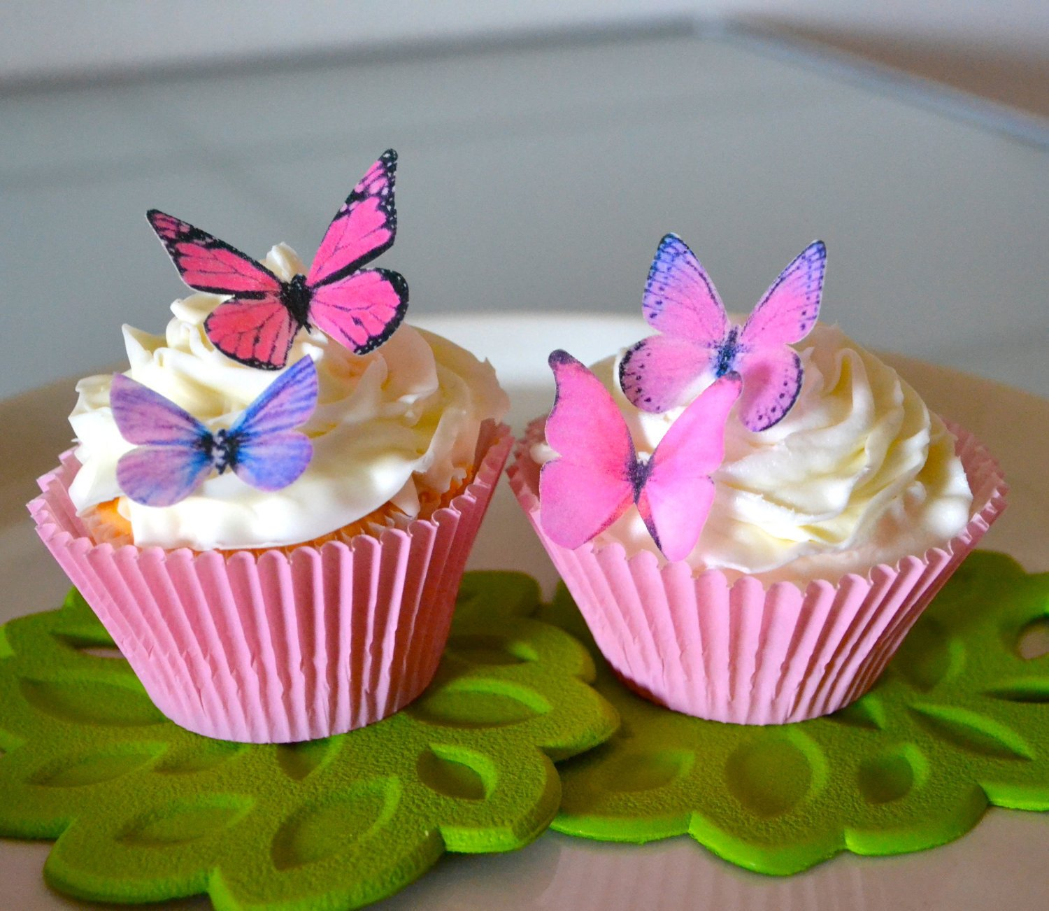 Amazoncom Edible Butterflies Small Assorted Pink and Purple Set
