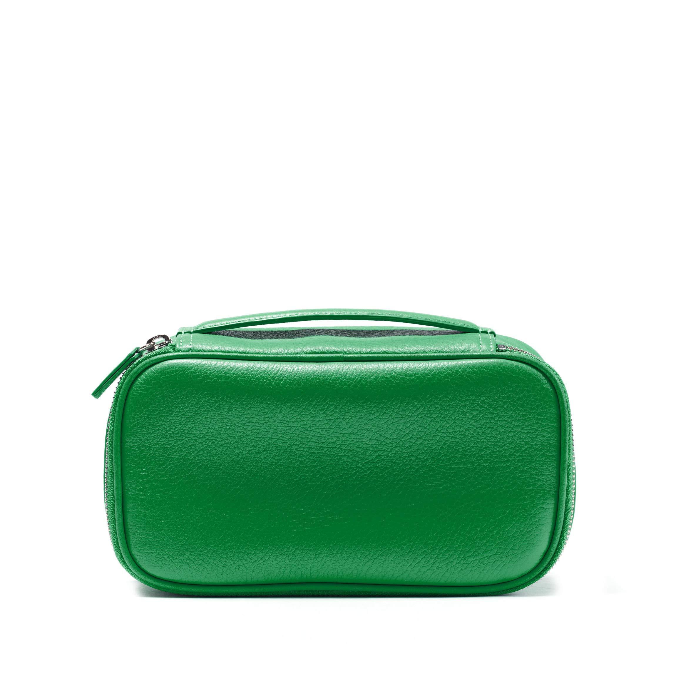 Leatherology Medium Travel Organizer - Full Grain Leather Leather - Kelly Green (green)