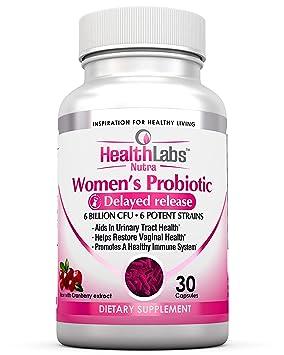 Health Labs Nutra Probiótico para mujeres con arándano y D-manosa - Promueve la salud óptima vaginal, urinaria y digestiva (30 tabletas): Amazon.es: Salud y ...