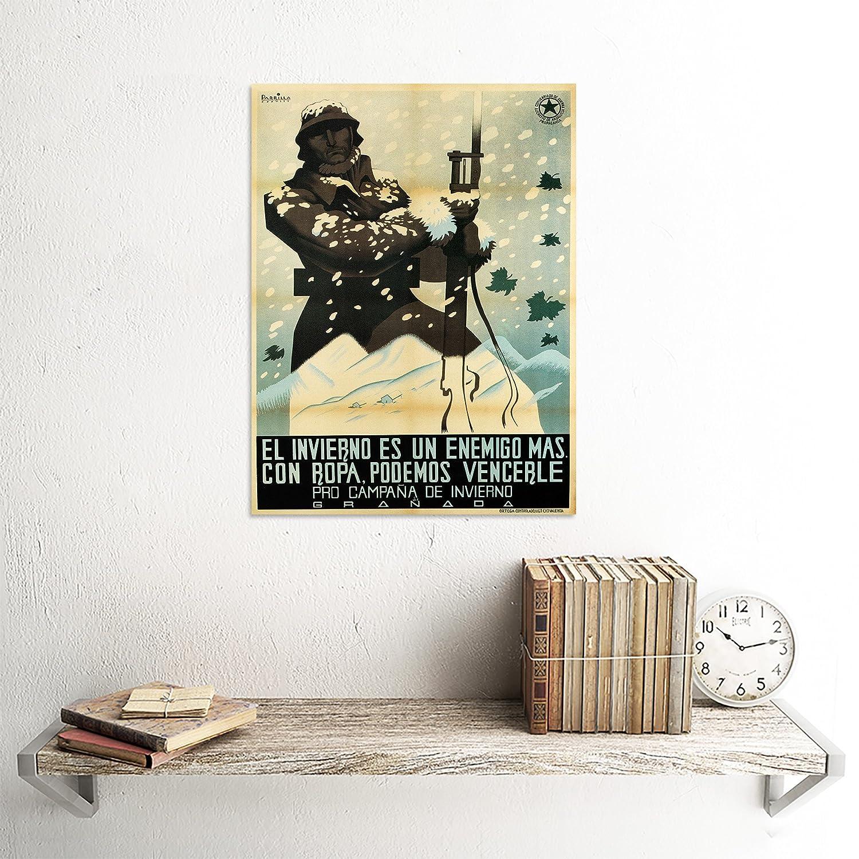 Amazon.com: WAR PROPAGANDA SPANISH CIVIL WINTER CAMPAIGN UGT REPUBLICAN SPAIN POSTER 2837PY: Prints: Posters & Prints