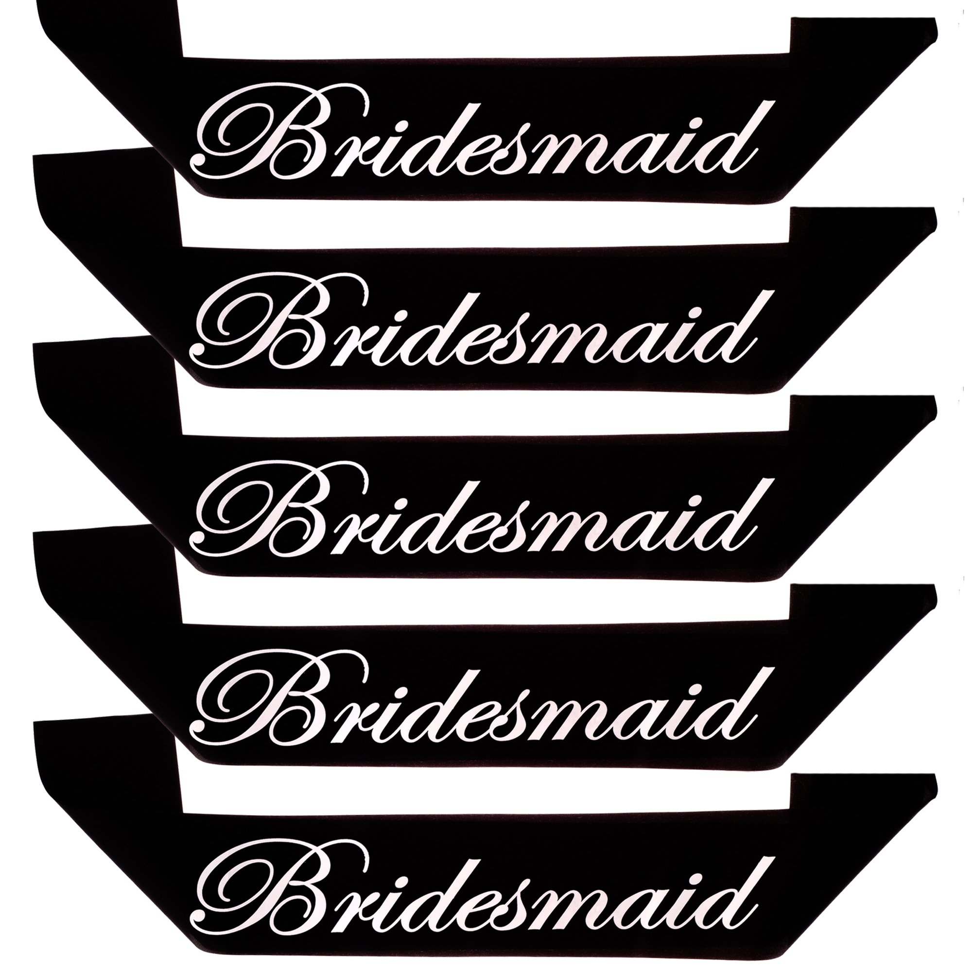 Ella Celebration Bridesmaid Sash, Bridal Party for Bachelorette and Bride to Be Sashes, Accessories Set (Bridesmaid, Set of 5)
