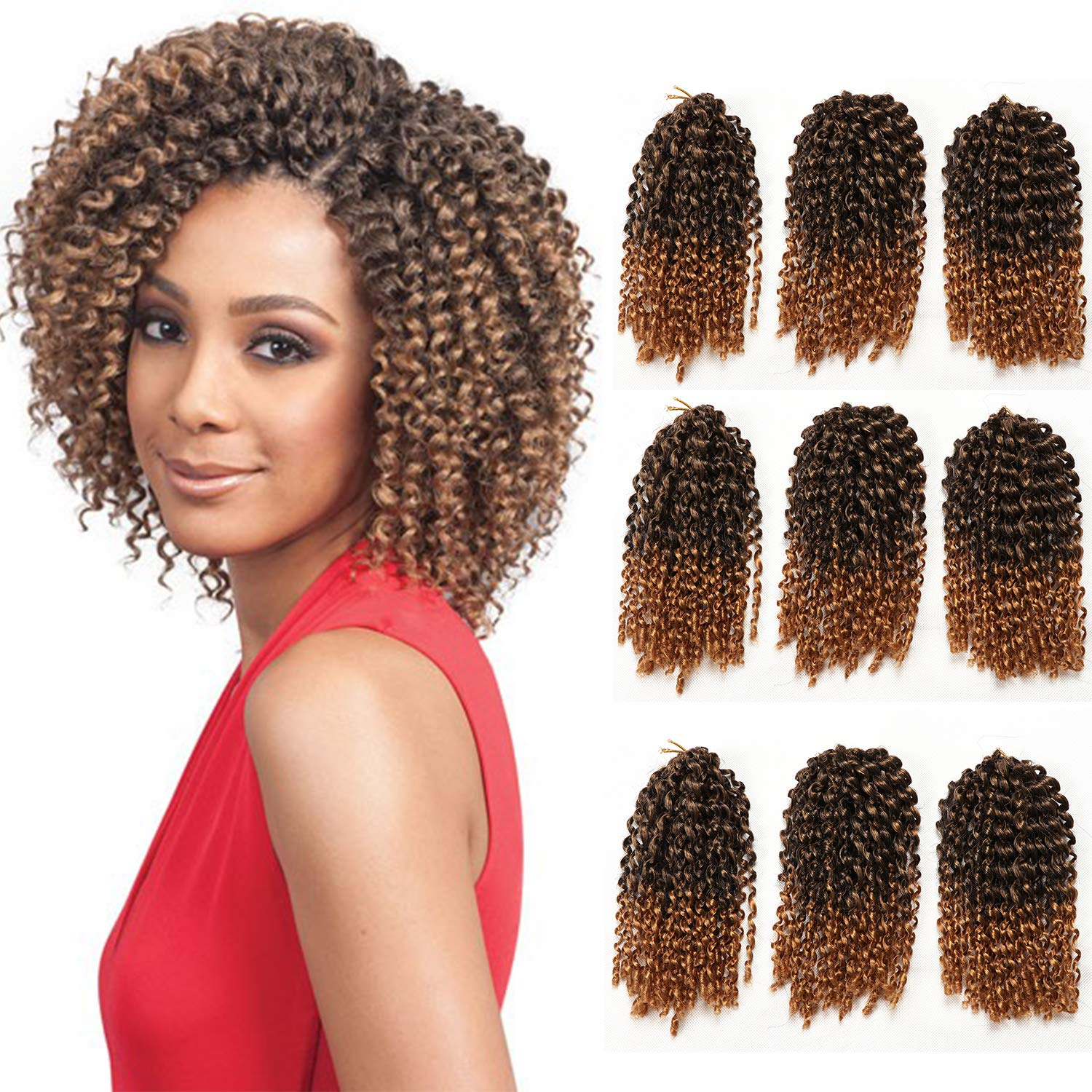 9 Bundles Lot Marlybob Crochet Hair Kinky Curly Twist Hair Extension 8 Inch Short Jerry Curly Crochet Braids Synthetic Braiding Hairpieces T27 Buy Online In India At Desertcart In Productid 149319293
