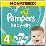 Pampers Baby Dry, Pañales para Bebés, Talla 4 (9-14 kg)