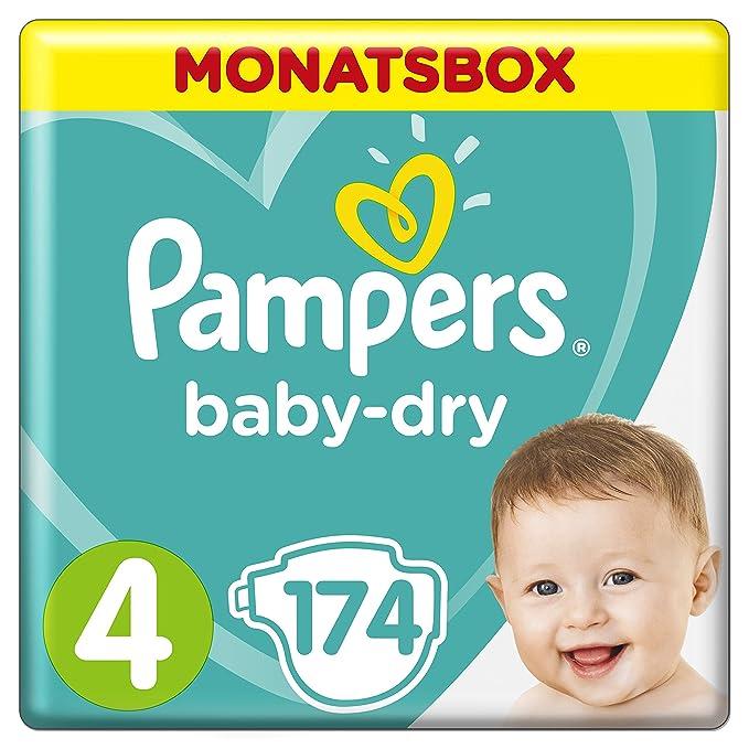 96 opinioni per Pampers Baby Dry, 174 Pannolini, Taglia 4 (8-16 kg), 174 pezzi