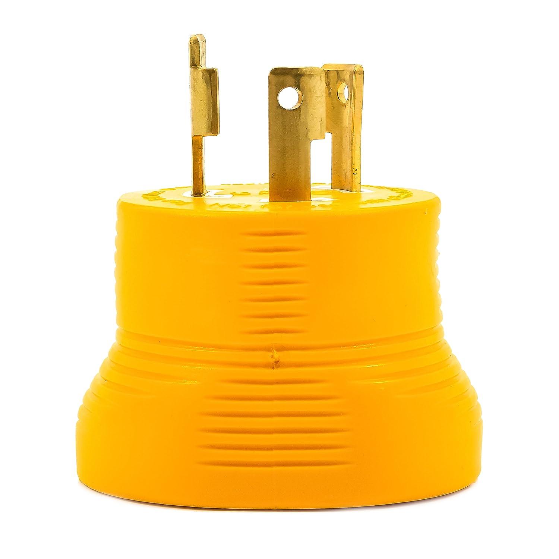 Camco Non Slip Grip Three Prong Generator Adapter 3 Rv Plug Wire Diagram Designed For Generators 30 Amp 55333 Automotive