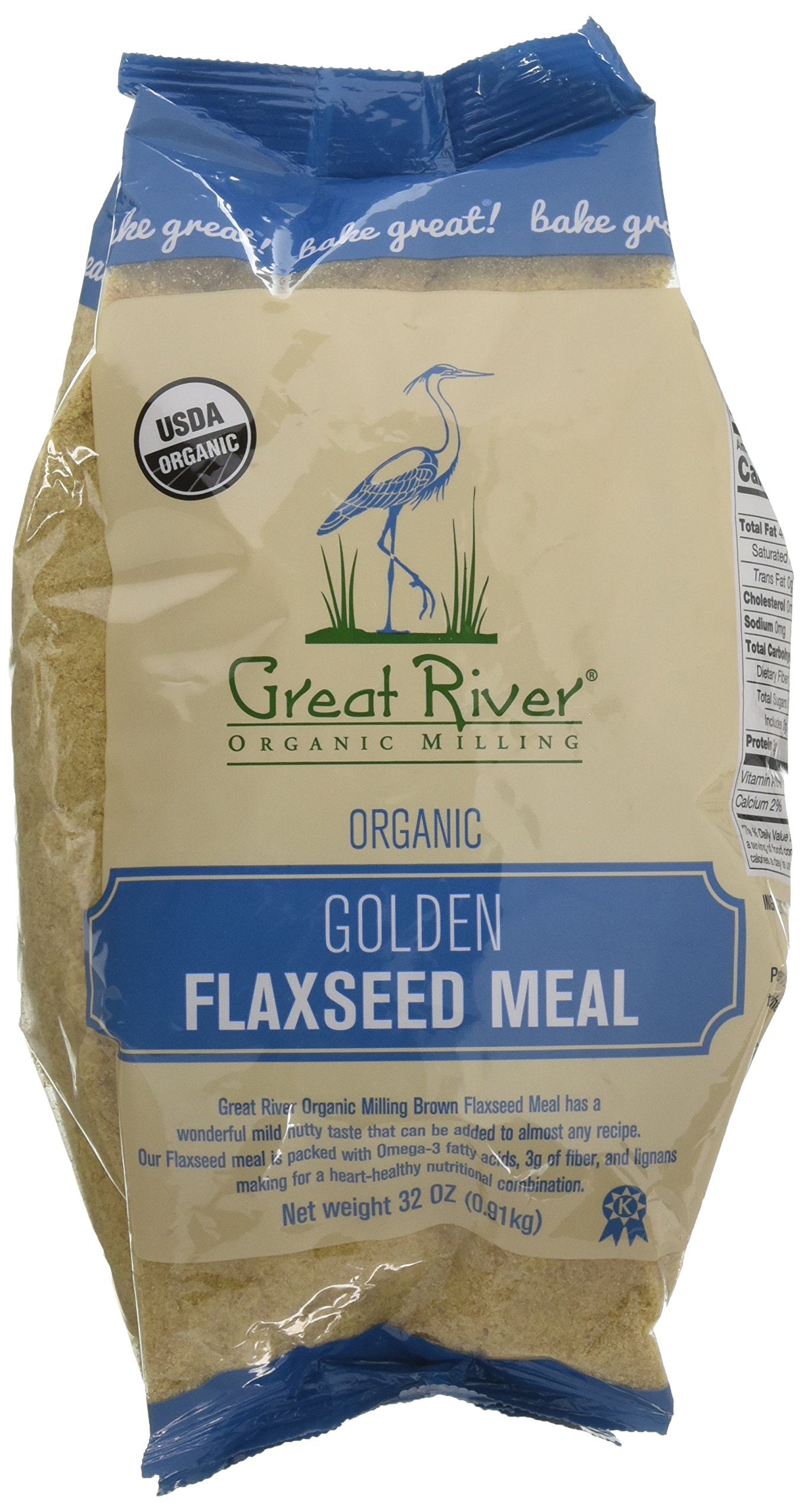 Great River Organic Milling Golden Flaxseed Meal, 32 Ounce by Great River Organic Milling (Image #1)