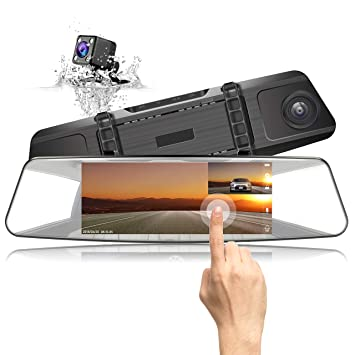 Review Mirror Backup Camera JEEMAK