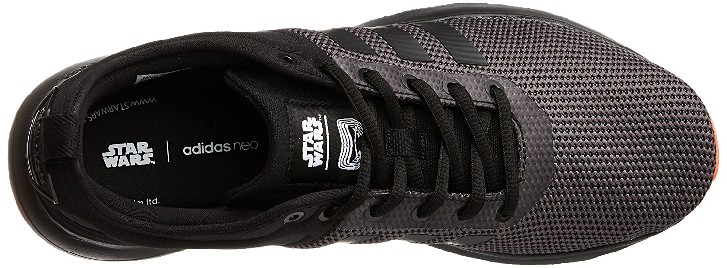 adidas neo Men s Cloudfoam Super Racer Star War Cblack and Solred Sneakers  - 12 UK India (47.33 EU)  Buy Online at Low Prices in India - Amazon.in ddf8ffec2