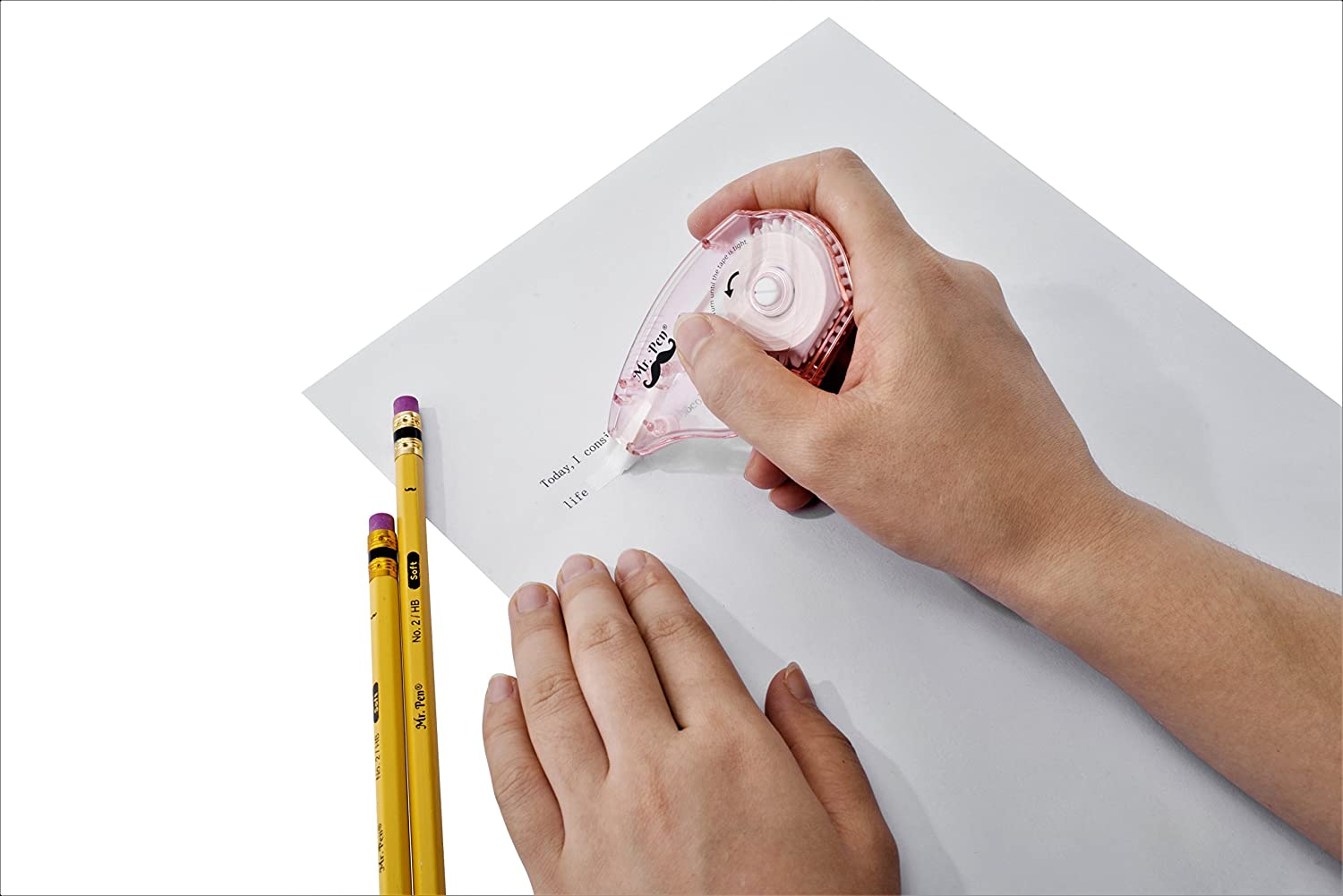 Mr Pen- Correction Tapes, Pack of 7, Correction Tape White Tape, Tape Eraser, White Correction Tape, White Tape, White Out, Wipe Out Tape, Wide Out Tape, Correction Tape Wide, Correction Tape Eraser : Office Products