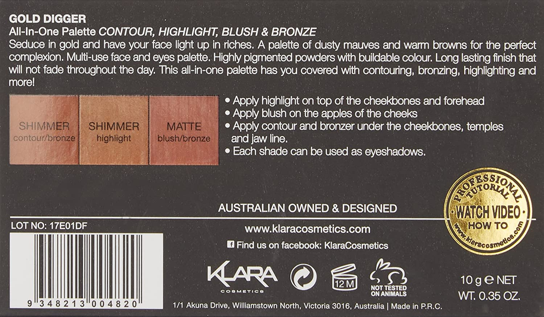 Klara Cosmetics Contour Blush Highlight Naked Truth Beauty Liquid Eyeliner 1 Black