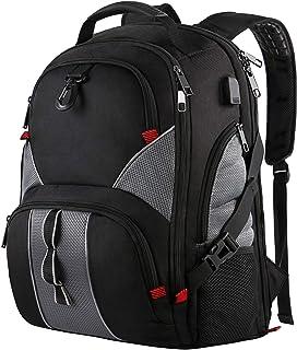 Mancro Travel Laptop Backpack,Business Backpack,Large Backpack Sac à Dos Loisir, 51 cm, Noir (Black) Large Backpack Sac à Dos Loisir Kisgo01