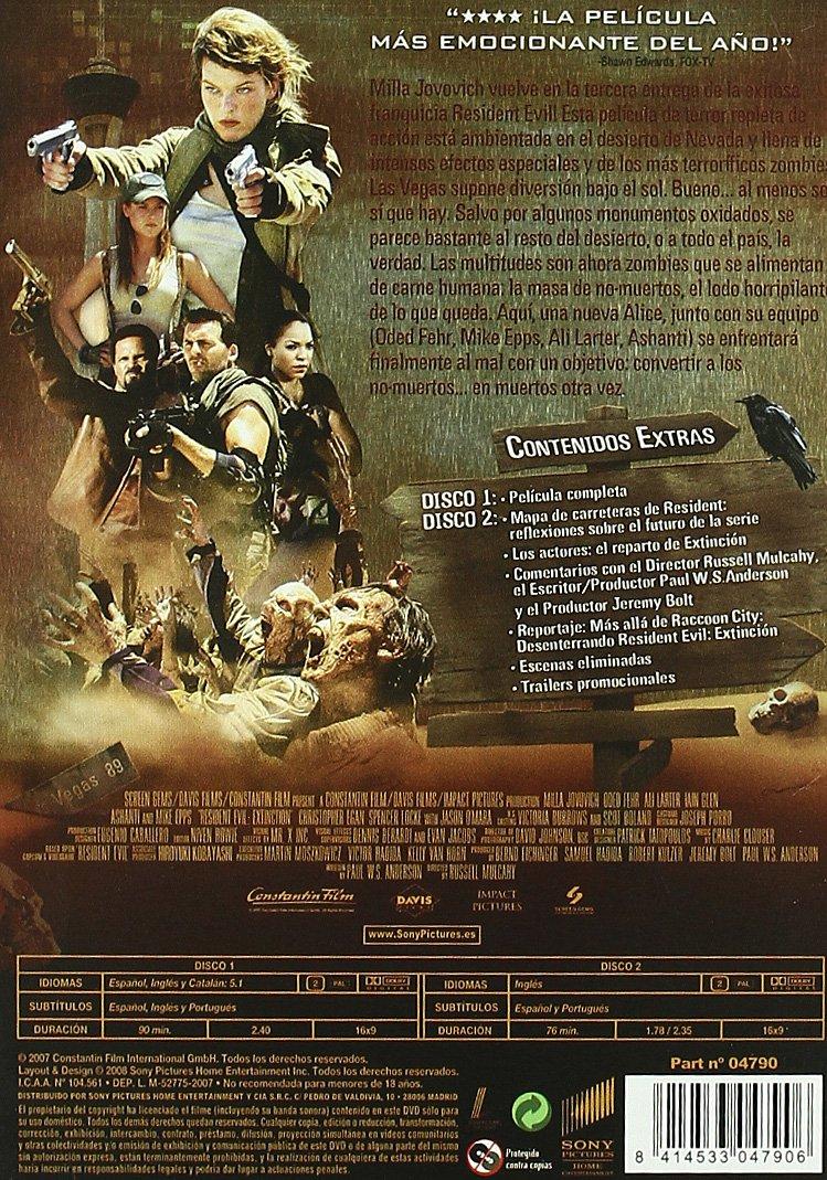Resident Evil 3: Extinción (Edición especial) [DVD]: Amazon.es ...