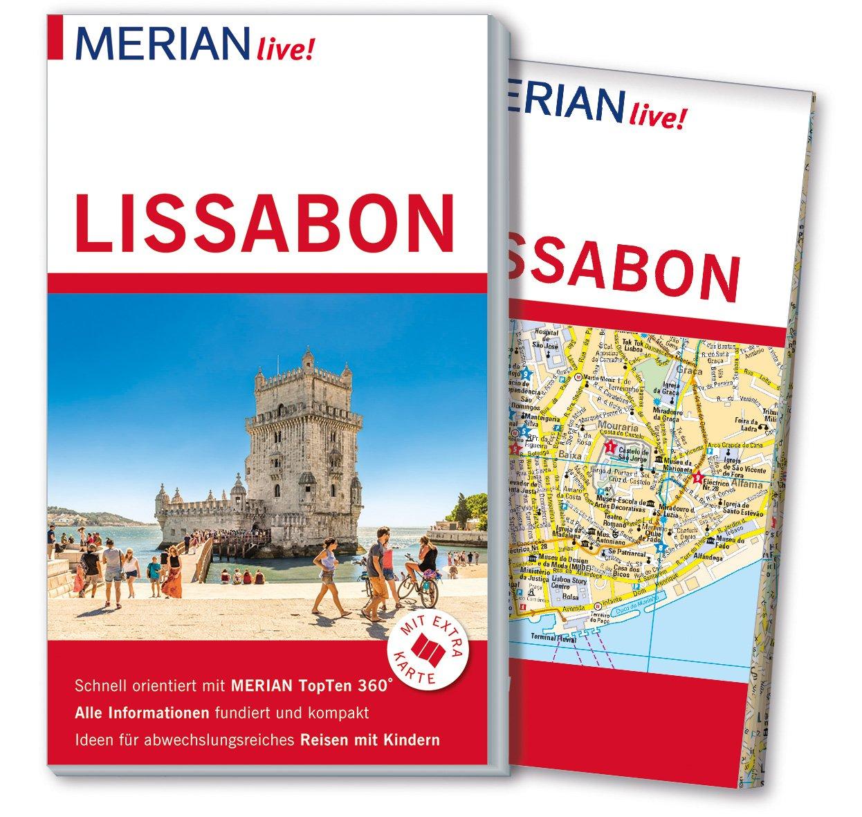 MERIAN live! Reiseführer Lissabon: Mit Extra-Karte zum Herausnehmen