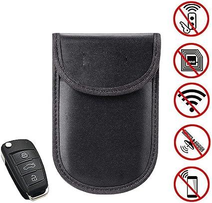 Ocamo Accesorios para vehiculos Funda bloqueadora de la señal del Coche Caja de Bloqueo de Faraday Jaula Fob Bolsa sin Llave RFID: Amazon.es: Coche y moto