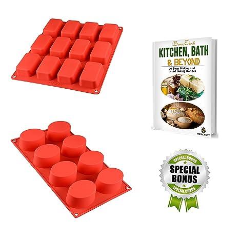 Jabón Moldes – Molde de silicona para hornear pan – caseras Craft DIY soapmaking moldes –